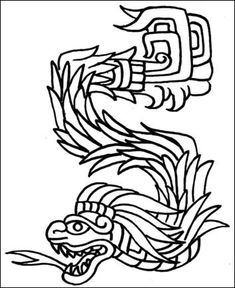 15th Maya Month Muwan Coloring page Precolumbian Art