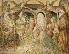 Leonard Foujita「キリスト降誕(Chapelle Foujita 壁画部分)」