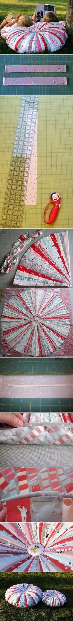 DIY Patchwork Round Pillow DIY Projects   UsefulDIY.com