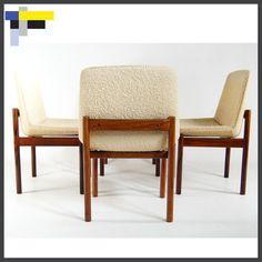 4 Retro Vintage Danish Modern Rosewood Dining Chairs Scandinavian 1950s 60s 70s | eBay