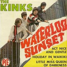 Waterloo sunset + holiday in waikiki + 2 by The Kinks, EP with londonbus Music Love, Pop Music, Music Is Life, Rock And Roll, Waterloo Sunset, The Ventures, The Kinks, Pochette Album, British Invasion