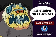 Welcome to #april @NeatoShop #sales! All #teesupto 20%Off!  My store:http://www.neatoshop.com/artist/BuckRogers … #TuesdayMotivation #rickAndMorty #happytuesday