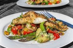 Delicious Greek-style fish salad - healthy, loaded with flavours and textures and absolutely delicious!
