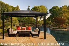 New Outdoor Hardtop Gazebo 10'x13' Pergola Kits Patio Grilling Cabana Canopy for your backyard pleasure!