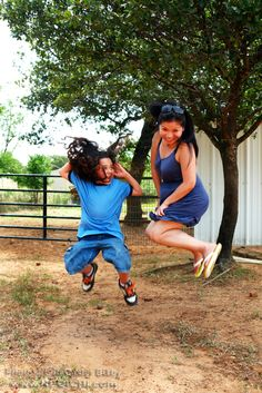 Title: Jump - No. 015 - Location - Daddy Mac's Ranch, Joshua, Texas - Date: June 2012 - Photo: Lon Casler Bixby - Web: www.neoichi.com - Models: Jordon & Nonie