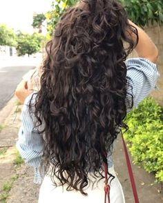 Curly Hair Cuts, Long Curly Hair, Curly Hair Styles, Natural Hair Styles, Permed Hairstyles, Pretty Hairstyles, Beautiful Long Hair, Gorgeous Hair, Pelo Ondulado Natural