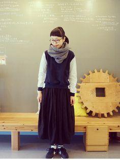 visuna | masumiスカート「polestar polestarのスカート 」를(을) 사용한 코디네이트