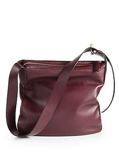 Reed Krakoff 510 Milled Leather Crossbody Bag in Gold / Bordeaux Cordovan
