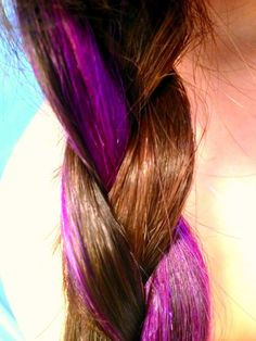 I want purple in my hair!