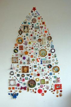 "don't know where one would do this but it's adorable!    ""DIY Christmas Tree"" With Your Favorite Things"