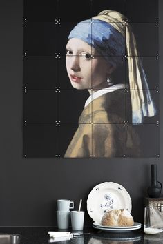 IXXI wall decoration made with the famous painting of Johannes Vermeer, 'The girl with the pearl earring'. The IXXI in this example will cost $92.30 (80 x 100 cm). #ixxi #ixxidesign