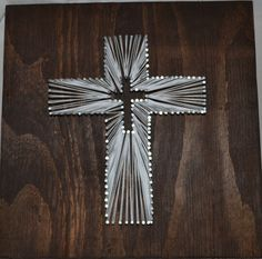 Baptism Custom Cross String Art  Customized  Etsy Shop: bcalkins2012