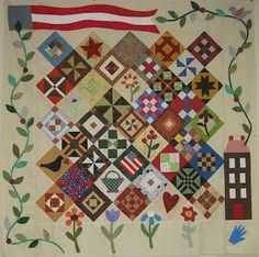 Saltbox Sampler | American Quilting 2012 Mystery Quilt