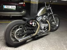 Harley Davidson Sportster Super Narrow de LowBrow Madrid España japanstyle bobber chopper homemade Burly bitwell zed velocity stack