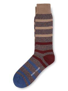 Scott Nichol - English country and boot socks Scott Nichol Couldsdon Striped Sock