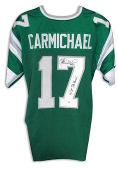 29ef02b8751 Harold Carmichael Philadelphia Eagles Autographed Green Jersey Inscribed  '4X Pro Bowl'