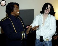 Michael Jackson & James Brown! His idol!! To see them together warms my…