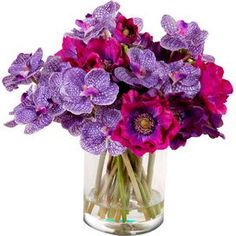 Faux Orchids & Anemone, New Growth Designs