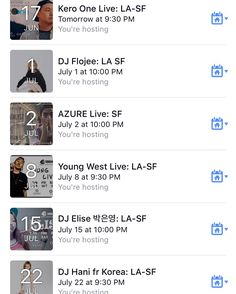 Soul Krush Weekly - Subscribe & get free entry tickets / discounted tickets / updates / artist info x @soulkrushent: www.facebook.com/soulkrush/events . Coming up in LA & SF: #KeroOne #DJFlojee #Azure #Shine #Saebyuk #YoungWest #DJElise(박은영) #DJHani #KRNFX - www.soulkrush.com