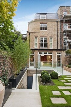 Rear View of Five bedroom terraced new house in South End, London W8 - off High Street Kensington - listed on Zoopla for £11million
