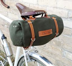 Classic Vintage Style Bicycle Bag (Ready to Ship). $96.00, via Etsy.