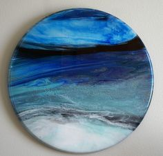 """Abstract Resin wall Hanging or Lazy Susan 24"""" Resin Paintings, Lazy Susan, Unique Jewelry, Handmade Gifts, Abstract, Wall, Etsy, Vintage, Craft Gifts"""