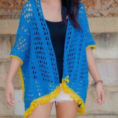 lemon drop kimono cardigan free crochet pattern beginner friendly