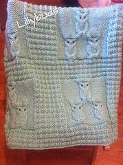 Ravelry: Oliver Owl Blanket pattern by Lillybuds Baby Knits
