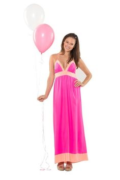 Pink Swinging in Silk Maxi