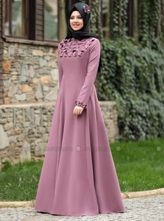 Pink Crew neck Unlined Dresses Rana ZennShop Modest dresses, Modest Evening Dresses, Hijab Scrafs, Instant Hijabs and More at Styleneur Modern Hijab Fashion, Muslim Women Fashion, Abaya Fashion, Modest Fashion, Fashion Dresses, Hijab Evening Dress, Evening Dresses, Hijab Style Dress, Mode Abaya