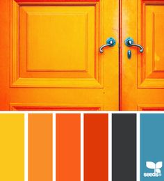 a door orange - design seeds