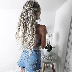 hair, beautiful, and braid image