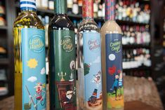 These French Wine Labels Feature Cartoonized Iconic Paris Symbols #drinking trendhunter.com