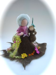 Mother earth.Rootchild.Waldorf. Handfelted. Wet  by FilzArts, $42.00