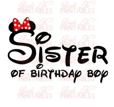 Disney+Iron+On+Transfer++Sister+Of+by+BrightLifePrintables+on+Etsy,+$4.00