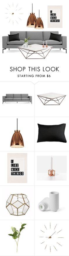 """Danish decor"" by aurelija-mikulenaite ❤ liked on Polyvore featuring interior, interiors, interior design, home, home decor, interior decorating, Blu Dot, Dyberg Larsen, Donna Karan and Unison"