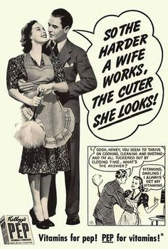 Kellogg's PEP - The harder a wife works, the cuter she looks!