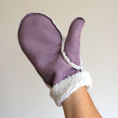 Tutorial : How to make faux sheepskin mittens - Christmas gift idea
