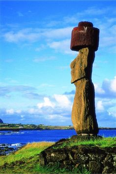 #EasterIsland is a small, hilly, now treeless island of volcanic origin. Located in the Pacific Ocean at 27 degrees south of the equator and some 3600 kilometers off the coast of Chile. In the 1860's Tahitian sailors gave the island the name #RapaNui, meaning 'Great Rapa,' due to its resemblance to another island in Polynesia called Rapa Iti, meaning 'Little Rapa'.