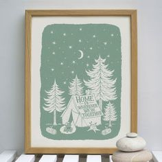 Home Together Camping Print - new in prints & art