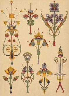 Flowers Pattern Design Prints Art Nouveau 49 Ideas For 2020 Motifs Art Nouveau, Azulejos Art Nouveau, Motif Art Deco, Art Nouveau Flowers, Art Nouveau Design, Art Nouveau Pattern, Art And Illustration, Botanical Illustration, Illustrations