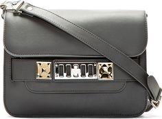 Proenza Schouler - Heather Grey Leather PS11 Classic Mini Shoulder Bag