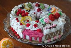 Вязаные кусочки тортиков - вязание и вышивка, плетение, подарок для женщины. МегаГрад - мега-портал авторской ручной работы