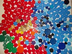 Sold, more coming, 200 plastic bottle caps red blue green gold yellow craft supply #Unbranded