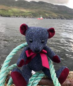 Glen the Bear is back on his monthly adventures, heading for open water! Do you know where he is this time? Our tweed teddies are made by hand in England with our own genuine Donegal Tweed. Donegal, Open Water, Tweed, England, Teddy Bear, Interiors, Handmade, Hand Made, Teddy Bears