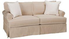 Four Seasons Emily Townhouse Sofa w/Slipcover - Sofas - Jordan's Furniture