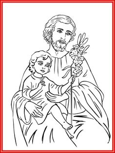 St. Joseph Catholic Coloring Page