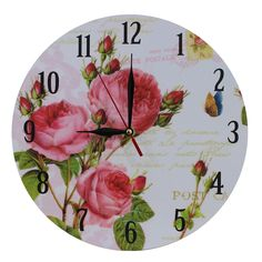 This listing is for one Home Decoration Vintage Style MDF Red Roses Scene Vintage Style Wall Clock 28 cm. Price £12.99