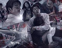 Train to Busan-K Drama_list-Subtitle Series Movies, Film Movie, Train To Busan Movie, Korean Drama Movies, Korean Dramas, Korean Actors, Train Wallpaper, Yoo Gong, Korean Shows