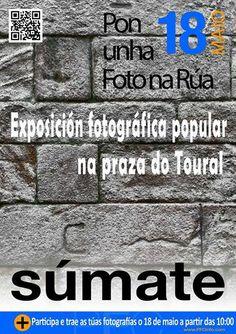 Exposición #fotografia popular na praza do Toural 2014. #sumate #santiago #carteles